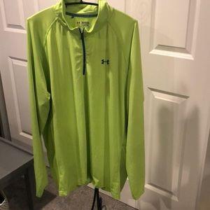 Under Armour neon green 1/4 zip 3xl